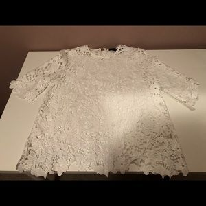 Zara S white lace top